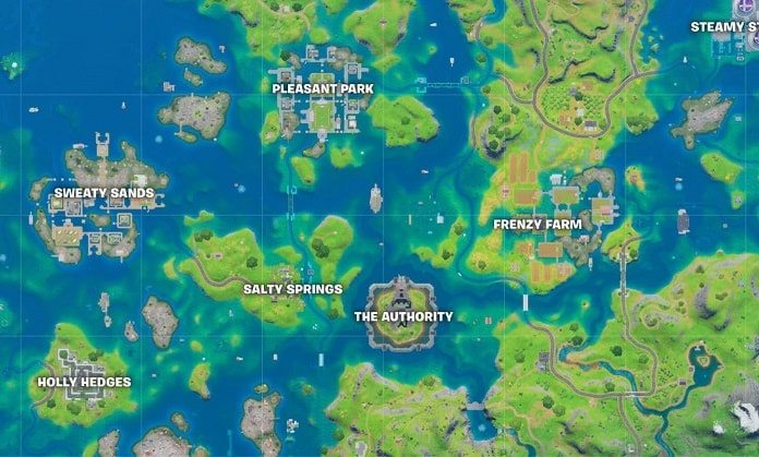 New Fortnite Season Map