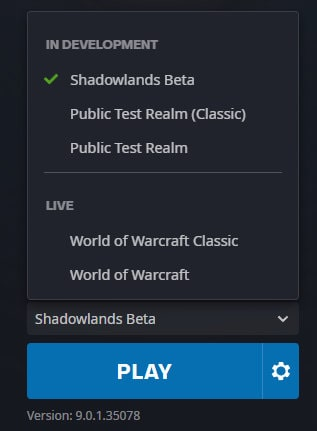 WoW Shadowlands Beta Invite